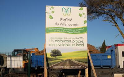 Février 2020 – Lancement des travaux de la station BioGNV du Villeneuvois