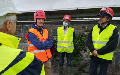 Octobre 2020 – Visite du chantier en cours du Parc Solaire de Réaup-Lisse