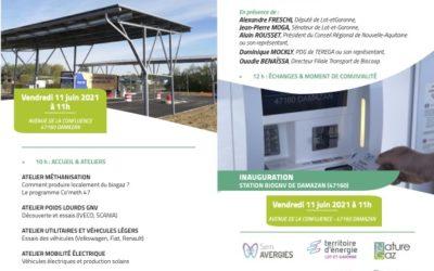 11 juin 2021 –  Inauguration de la Station BioGNV du Confluent à Damazan